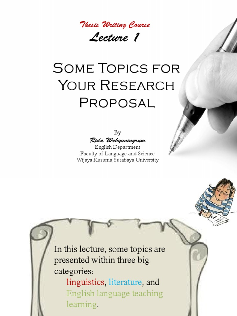 research proposal topics for english