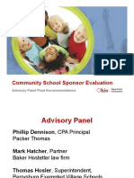 State Board Dec2015 Community School Sponsor Evaluation