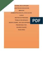 Ensayo - Adminitracion Educativa