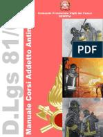 Manuale Corsi Addetti Antincendio