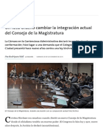 Un Fallo Ordenó Cambiar La Integración ... Magistratura - 20.11