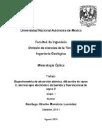 Técnicas para la Identificación de Minerales