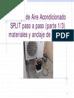 Instalacion de Un Aire Acondicionado Split