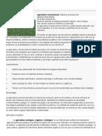 AgriculAgricultura convencionaltura Convencional