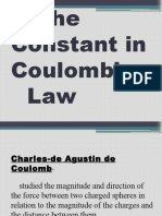 The Constant in Coulomb's Law
