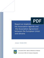 Report on implementation of the Association Agenda