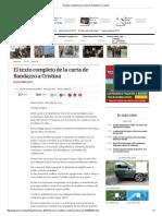 El Texto Completo de La Carta de Randazzo a Cristina