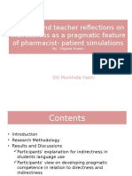 Esp pharmacist reflection on simulation journal article