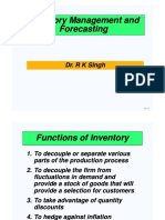 Inventory Management and Forecasting