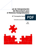 Manual de Interpretacion Del Rorschach Para El Sistema Comprehensivo - Concepcion Sendin