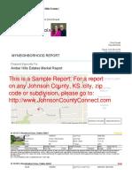 Sample MyNeighborhood Report