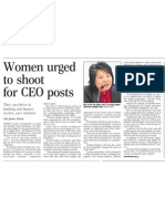 Women urged to shoot for CEO posts