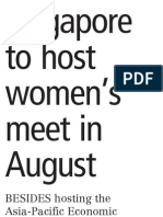 S'pore to host Women's meet in Aug