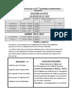 Programmation de La 07emejournee Championnat