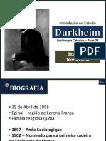 Aula 02 Durkheim