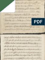 Mozart K 330 Autograph Manuscript