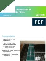 Optimización de Filtros de Medio Granular