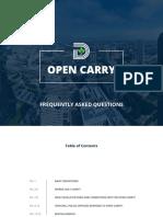 Dallas Open Carry FAQ
