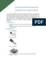 Polarizacion Del Transistor Bjt