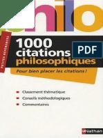 1000 Citations Philosophiques
