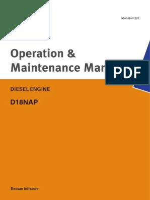 DOOSAN D18NAP | Motor Oil | Cylinder (Engine)