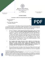 Interim Order Harry B. Scheeler, Jr. v City of Cape May