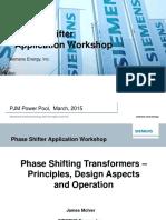 Pjm Phase Shifting Transformer Principles
