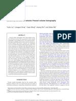 Sensitivity Kernels for Seismic Fresenl Volume Tomography – Liu Et Al - 2009