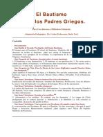 El Bautismo Según Los Padres Griegos (Carlos Etchevarne)