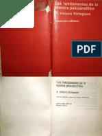 Echegoyen - Fundamentos Técnica Psicaoanalítica