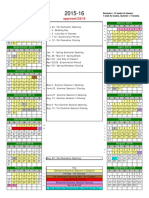 Semester Calendar 2015 16 Approved