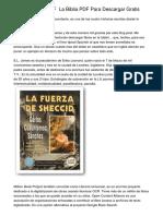 Biblia Catolica PDF ▷ La Biblia PDF Para Descargar Gratis