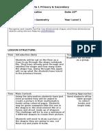 lesson plan maths tuesday for portfolio