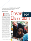 danielson observing classroom practice