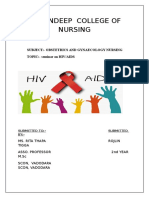 Aids introduction related to obstetrics