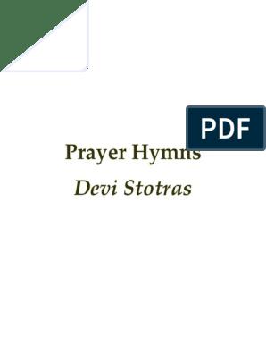 Prayer Hymns - Devi Stotras | Devi | Kali