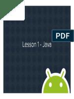 Lesson 01 -Java