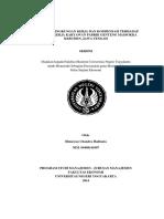 Skripsi Pengaruh Kompensasi Dan Lingkungan Kerja Terhadap Kepuasan Kerja Karyawan Pt