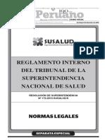 Reglamento Interno Del Tribunal de La Superintendencia Nacionalde Salud