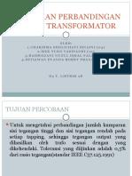 Pengujian Perbandingan Belitan Transformator