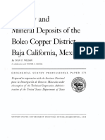 Mineral Deposit Mexico 1955