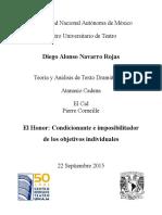 09-22-15 EL CID El Honor Imposibilitador de Los Objetivos Individuales