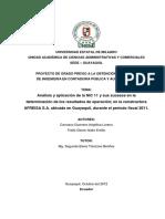 Análisis y Aplicación de La NIC 11 y Sus Sucesos en La Determinación de Los Resultados de Operación_ en La Constructora AFREISA S.a. Ubicada en Guayaquil, Durante El Período Fiscal 2011