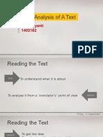 translation analysis of a text - eportfolio