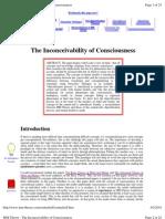 The Inconceivability of Consciousness
