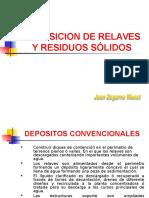 Deposito Relaves y Residuos Solidos procesamiento de minerales