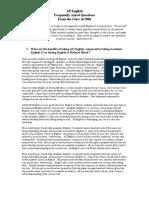 AP English FAQ Handout 2006 (2)