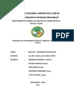 Analisis Tratamiento Fisico, Quimico y Biologico Del Agua
