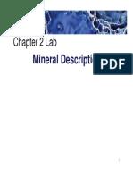 2 Mineral Characteristics Lab