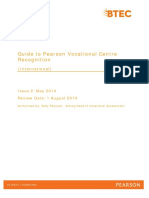 Guide to Pearson International Vocational Centre Recognition 2014 Issue 2